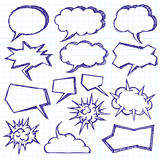 Vector Sketch Background With Speech Bubbles Royalty Free Stock Photo