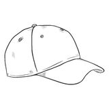 Vector Sketch Blank Baseball Cap Stock Image
