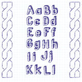 Vector Sketch Book Letters Stock Photo