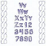 Vector Sketch Book Letters Stock Photos