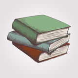 Vector sketch of books stack Royalty Free Stock Image