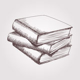 Vector sketch of books stack Stock Photo