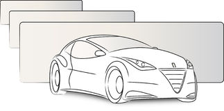 Vector Sketch car Royalty Free Stock Photo