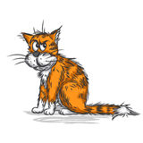 Vector sketch of a cat stock illustration