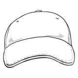 Vector Sketch Classic Blank Baseball Cap. Stock Photos