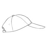 Vector Sketch Classic Blank Baseball Cap. Royalty Free Stock Images