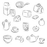Vector Sketch Clipart Set royalty free illustration