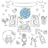 Vector Sketch Clipart Set Royalty Free Stock Images