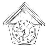 Vector sketch of clock Royalty Free Stock Image