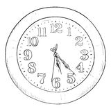 Vector sketch of clock Stock Photography