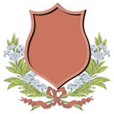 Vector sketch - Coats of arms, shields and flowers wreaths Royalty Free Stock Image