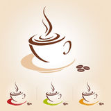 Vector sketch of coffee cup, icon Royalty Free Stock Image