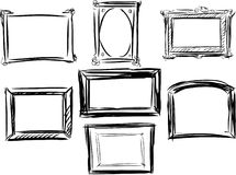 Frames. Vector sketch of different frames royalty free illustration