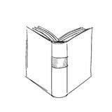 Vector sketch drawing book illustration Stock Photo