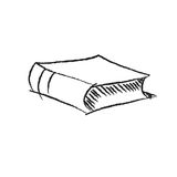 Vector sketch drawing book illustration Stock Images