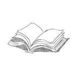 Vector sketch drawing book illustration Royalty Free Stock Photography