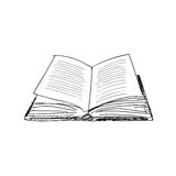 Vector sketch drawing book illustration Stock Photography
