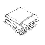Vector sketch drawing book illustration Stock Image