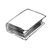 Vector sketch drawing book illustration Royalty Free Stock Photo