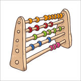 Vector sketch drawing classical abacus illustration Stock Images