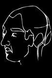 Vector sketch of the face of an adult male Royalty Free Stock Images