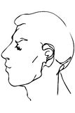 Vector sketch of the face of a handsome young man Royalty Free Stock Images