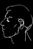 Vector sketch of the face of a handsome young man Stock Photography