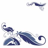 Vector Sketch with Feather and Inkstand Stock Photography