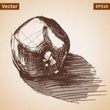 Vector sketch of garnet. Royalty Free Stock Photos