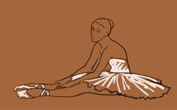 Vector sketch of girl's ballerina Stock Photos