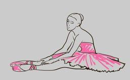 Vector sketch of girl's ballerina Stock Images