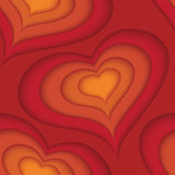 Vector sketch heart seamless pattern design Stock Images