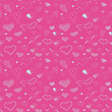 Vector sketch heart seamless pattern design Stock Photography