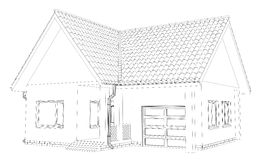 Vector sketch house on the white background. EPS Royalty Free Stock Images