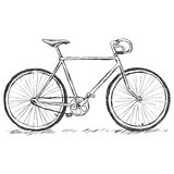 Vector sketch illustration - bicycle Stock Photography