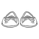 Vector Sketch Illustration - Pair of Women Ballet Flats. Front View Stock Photography
