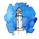Vector sketch of lighthouse