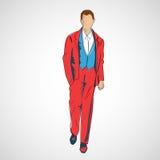 Vector sketch man in fashion clothes eps Stock Photos