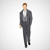 Vector sketch man in fashion clothes eps Royalty Free Stock Photography
