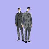 Vector sketch mans in fashion clothes eps Stock Photos