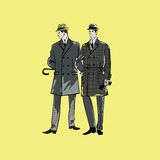 Vector sketch mans in fashion clothes eps Royalty Free Stock Image