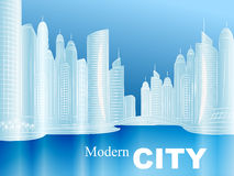 Vector sketch of a modern city Royalty Free Stock Photography