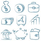 Vector sketch money icons vector illustration