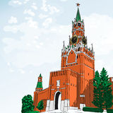Vector sketch of the Moscow Kremlin, Russia Stock Images