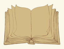 Vector sketch. Open book Royalty Free Stock Image