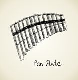 Vector Sketch Panpipe Stock Images