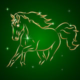 Vector Sketch of Running Horse Royalty Free Stock Photo