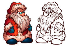 Vector sketch of Santa Claus. Christmas Royalty Free Stock Photos