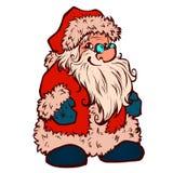 Vector sketch of Santa Claus. Christmas Stock Photography