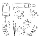 Vector Sketch Set Stock Image